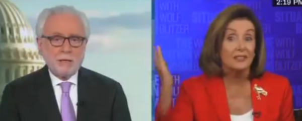 Wolf Blitzer Tears Into Pelosi For Refusing To Accept Trump Deal
